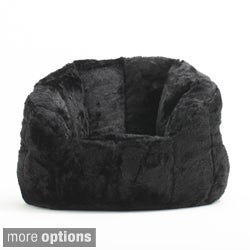 Beansack Big Joe Milano Faux Fur Bean Bag Chair Free