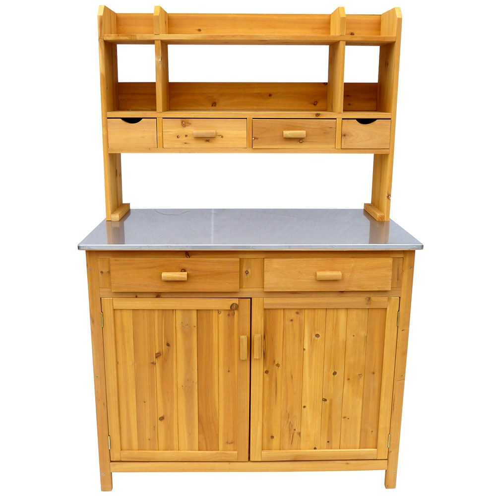 Leisure Outdoor Kitchen Prep Station (Storage), Brown (St...