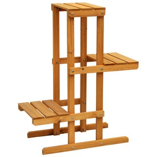 Cyress Wood 3-tier Plant Stand