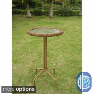 International Caravan Resin Wicker Bar-height Outdoor Bistro Table (5 options available)