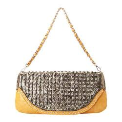 Women's Ann Creek Checkers Satchel Pewter/Yellow