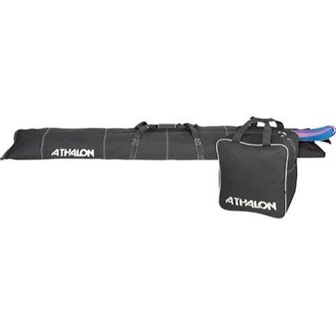 Athalon Two Piece Ski and Boot Bag Set Black