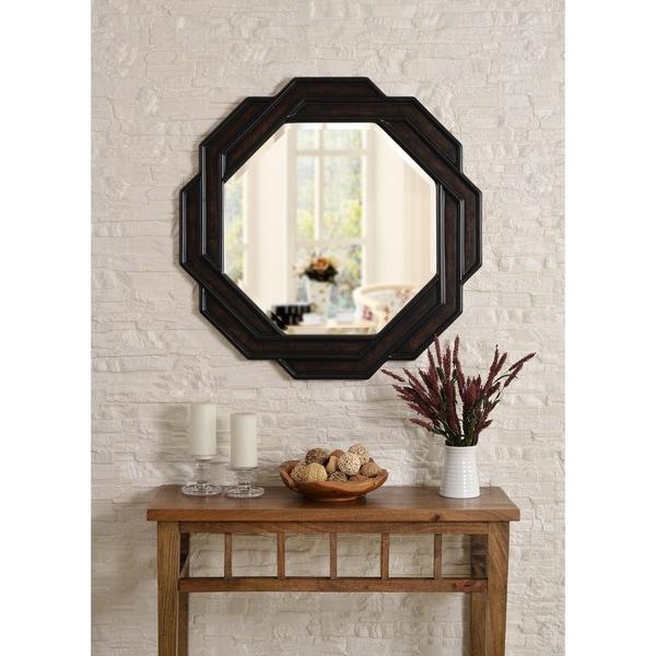 Design Craft Weaver 34-inch Bronze Wall Mirror