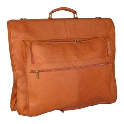 David King Leather 204 Deluxe Garment Bag Tan