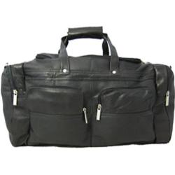 David King Leather 302 Sport Duffel Black