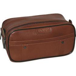 Men's Dopp Veneto Soft Sided Multi-Zip Travel Kit Brown