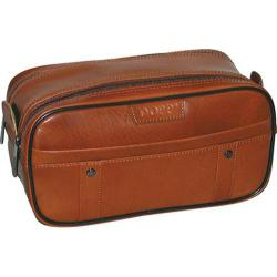 Men's Dopp Veneto Soft Sided Multi-Zip Travel Kit Tan Brown