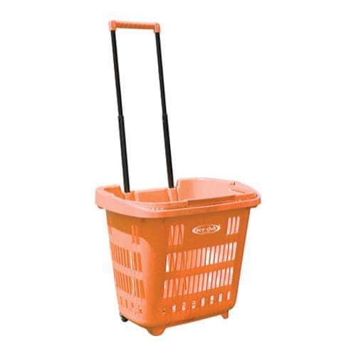 Eco-Club 36in EZ Roller Rolling Basket Orange