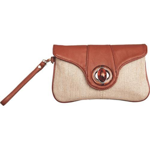 Women's Elise Hope Textured Linen Clutch Brown