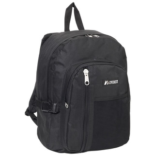 Everest 16-inch Black or Dark Grey Front Mesh Pocket Backpack