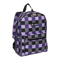 Everest Pattern Purple Bold Plaid Backpack