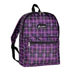 Everest Pattern Purple/Black Plaid Backpack