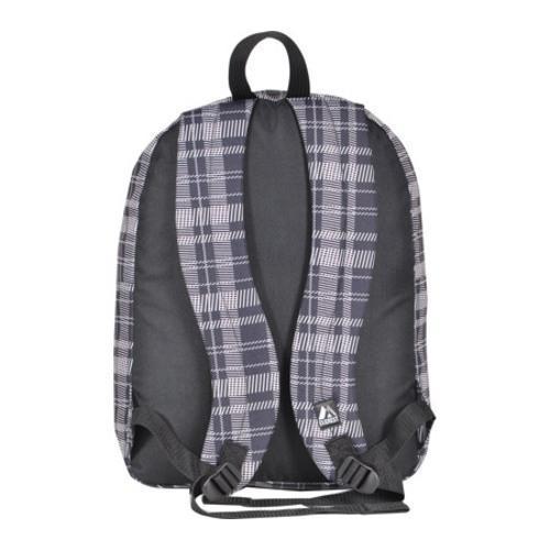 Everest Black/Grey Square Pattern Printed Backpack - Thumbnail 1