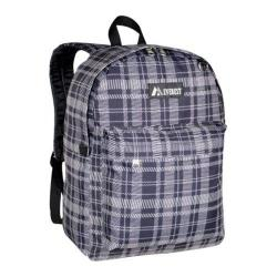 Everest Black/Grey Square Pattern Printed Backpack
