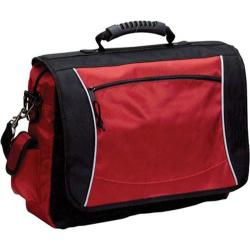 Goodhope Compucase Red Flap-Over Messenger Briefcase