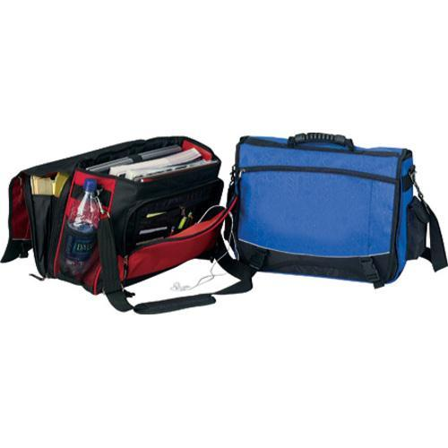 GOOD HOPE BAGS Monsoon Red/Black Flap-over 15-inch Laptop...
