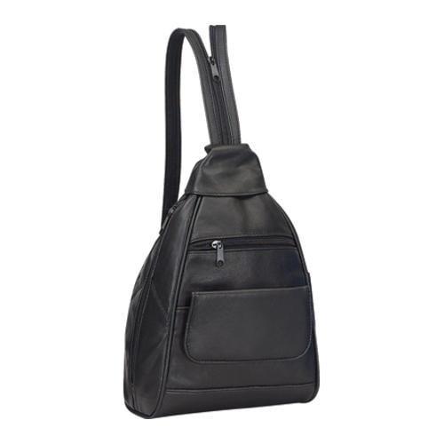 Goodhope P3650 Leather Mini Backpack Black