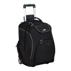 High Sierra Powerglide Black Rolling Backpack