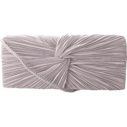 Women's J. Furmani 17946 Satin Flap Clutch Silver