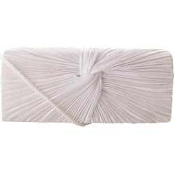 Women's J. Furmani 17946 Satin Flap Clutch White