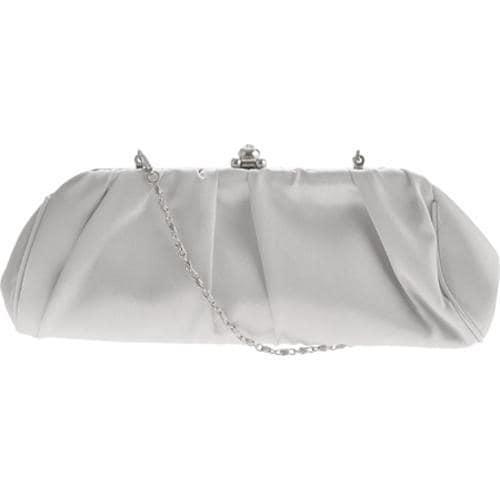 Women's J. Furmani 19663 Pleated Evening Bag Silver
