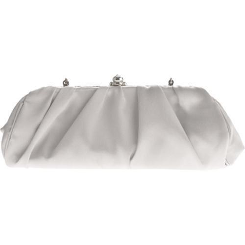 Women's J. Furmani 19663 Pleated Evening Bag Silver - Thumbnail 1