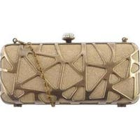 Women's J. Furmani 50242 Hardcase Clutch Gold