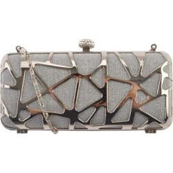 Women's J. Furmani 50242 Hardcase Clutch Silver