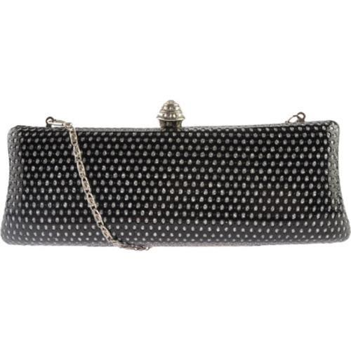 Women's J. Furmani 50600 Hardcase Fashion Clutch Black