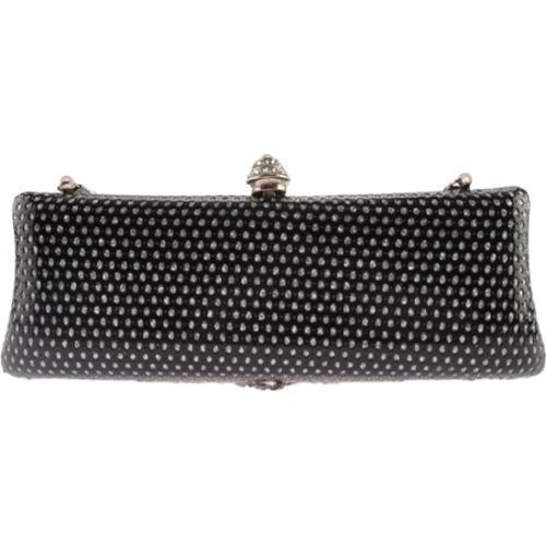 Women's J. Furmani 50600 Hardcase Fashion Clutch Black - Thumbnail 1