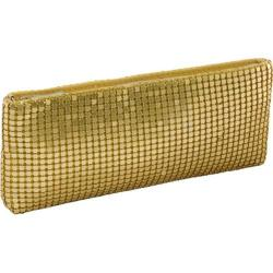 Women's J. Furmani 65630 Metal Mesh Wristlet Gold