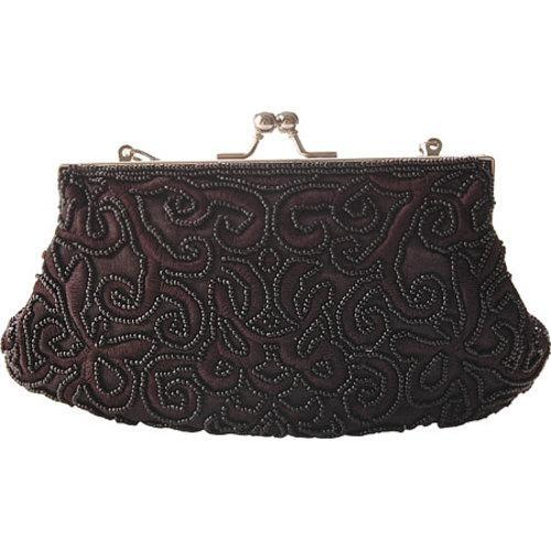 Women's J. Furmani 71050 Beaded Evening Bag Black