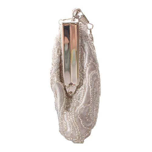 Women's J. Furmani 71050 Beaded Evening Bag Silver - Thumbnail 2