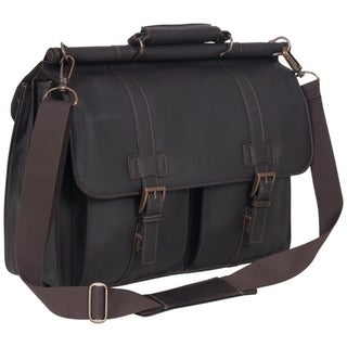 Link to Kenneth Cole Reaction Colombian Leather Double Compartment  Flapover 15in Laptop Dowelrod Business Portfolio Similar Items in Briefcases
