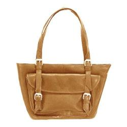 Women's Latico Addison E/W Large Tote 0243 Natural Leather