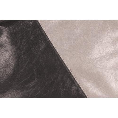 Women's Latico Dottie Wristlet 8523 Metallic Gray/Black Leather
