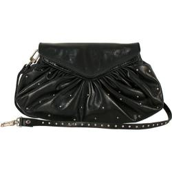Women's Latico Grace Foldover Convertible Clutch/Cross Body 7903 Black Leather