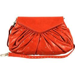 Women's Latico Grace Foldover Convertible Clutch/Cross Body 7903 Flame Leather