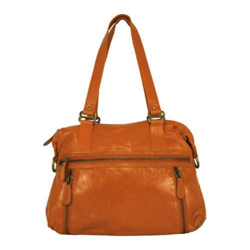 Women's Latico Hazel Gathered Shoulder Bag 7605 Orange Leather