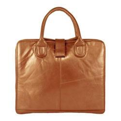 Women's Latico Jennette Laptop Brief 7638 Metallic Copper Leather - Thumbnail 0