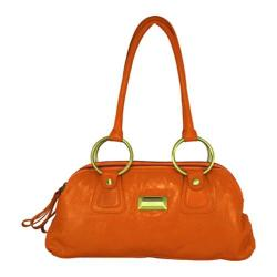 Women's Latico Louise Coinkeeper Shoulder Bag 7614 Orange Leather