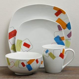 TTU Gallery 'Soho' 16-piece Round Dinnerware Set