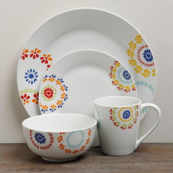 TTU Gallery 'Fulton' 16-piece Round Dinnerware Set