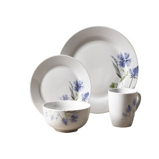 16pc Dinnerware Set - Wildflower  sc 1 st  Overstock.com & Porcelain Dinnerware | Find Great Kitchen u0026 Dining Deals Shopping at ...
