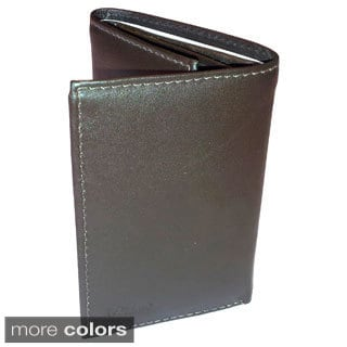 Kozmic Men's Smooth Leather Tri-Fold Wallet