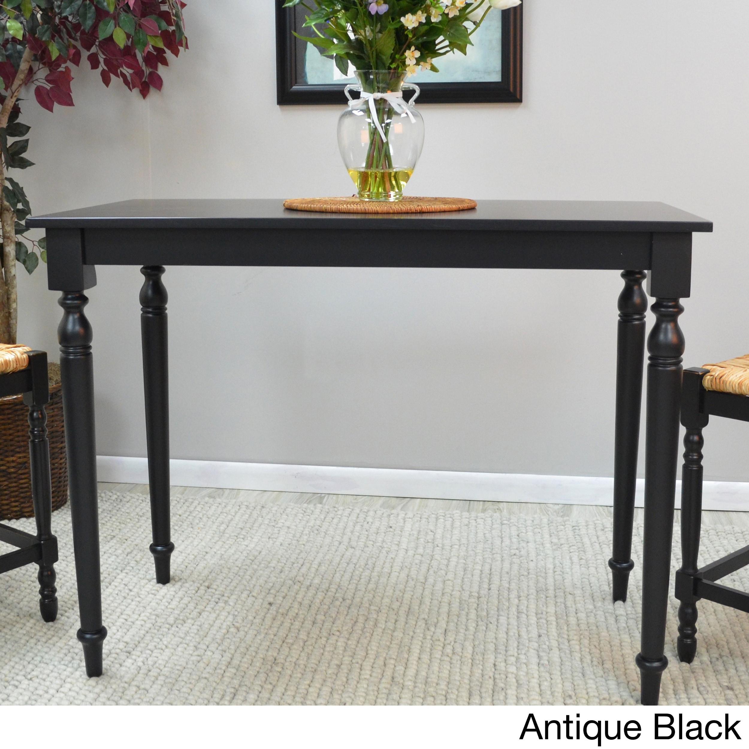 Carolina Morgan Bar Table (4 - Antique Black - Black Finish)
