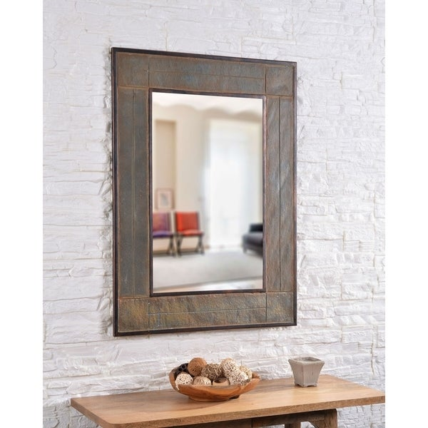 Shop Quarry 38 Inch Height Natural Slate Wall Mirror