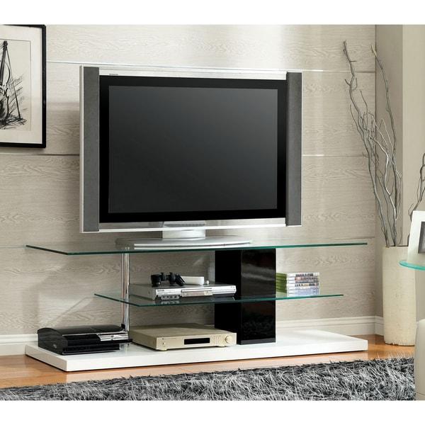 Furniture of America Vele Modern White 63-inch 2-shelf Media Center. Opens flyout.