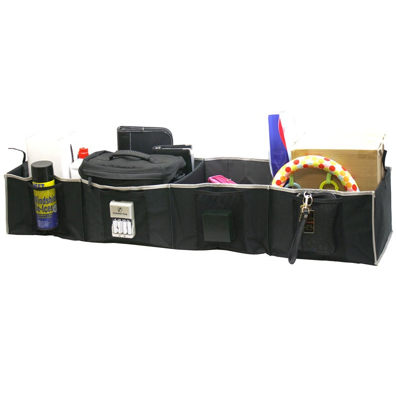Florida Brands Black 4-section Adjustable Trunk Organizer...