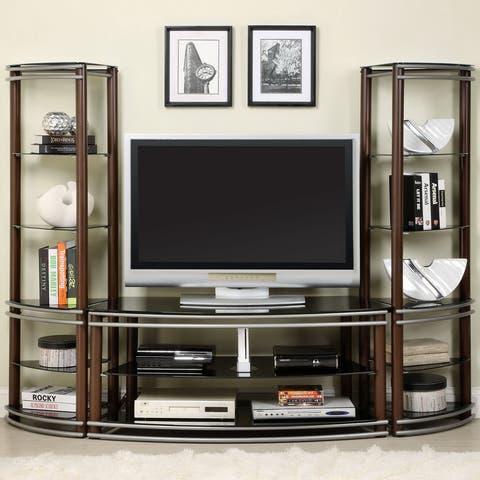 Furniture of America Khanhshey Brown Glass 52-inch Media Center